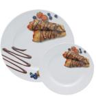 Набор тарелок для блинов Шоколад (27см, 20см) SNT