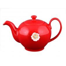 Заварочный чайник красный на 600мл Е-декор