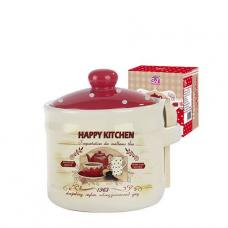 Банка для меда с деревянной ложкой 420 мл Happy Kitchen SNT
