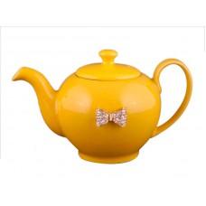 Заварочный чайник оранжевый с бантиком на 600мл Е-декор