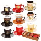 Сервиз кофейный 12 предметов Мокко (d-5см;h-6см;объём-100мл;d блюдца-12см) SNT
