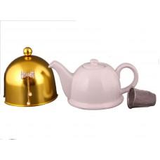 Заварочный чайник с колпаком и бантиком на 800мл Е-декор