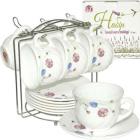 Набор чайный 13 пр, на стойке Весенние цветы SNT