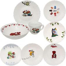 Набор детской посуды 3 пр Веселые пушистики SNT