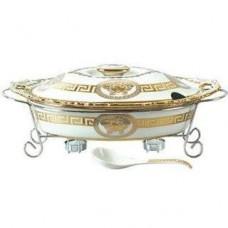 Мармит керамический 2,5л Madonna посуда для подачи горячих блюд с подогревом