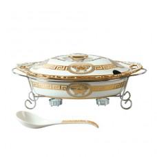 Мармит керамический Madonna 2, 5 л посуда для подачи горячих блюд с подогревом