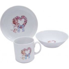 Набор детской фарфоровой посуды Sweet Heart 3 пр Cmielow
