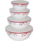 Набор емкостей для хранения продуктов с крышкой 4 шт Полевые цветы SNT