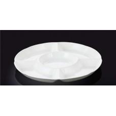 Менажница WILMAX круглая 25.5 см. Фарфор